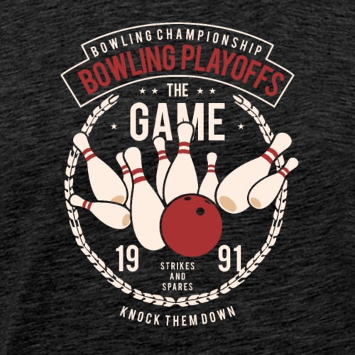 Bowling Playoffs - T-shirt Premium Homme