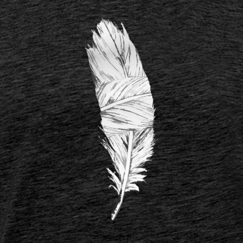 Black and White Feather - Men's Premium T-Shirt