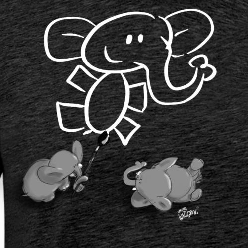 When elephants paint elephants. - Men's Premium T-Shirt