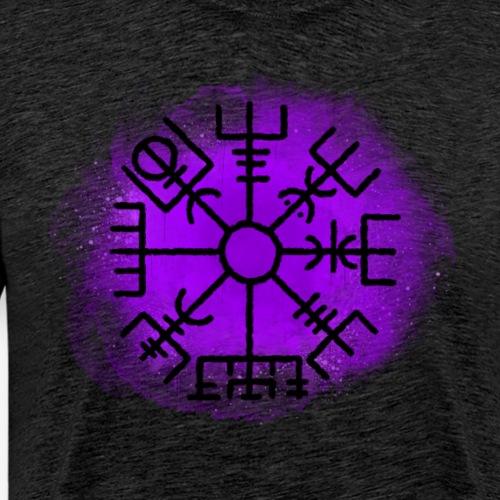 Vegvisir purpel By TheRawburt - Premium-T-shirt herr