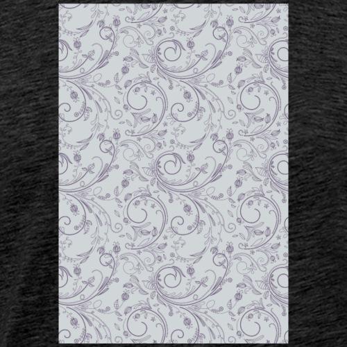 Florales Muster lila | Handy Cover Case - Männer Premium T-Shirt