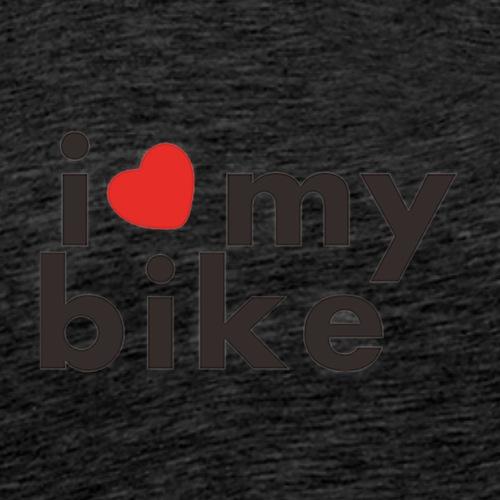 I LOVE MY BIKE Funny Sticker for Car Rear Windshie - Männer Premium T-Shirt