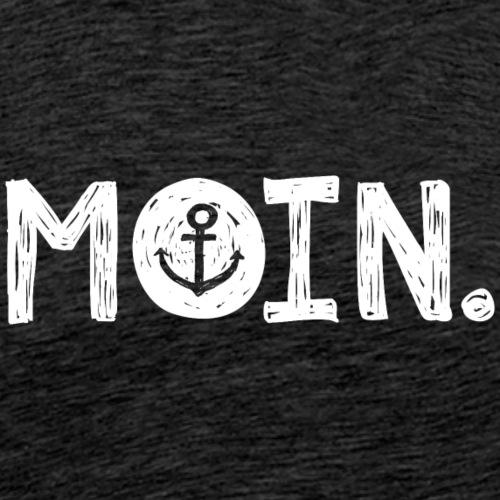 moin. weiß - Männer Premium T-Shirt