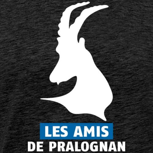 bouquetin tete blanc les Amis de Pralognan - T-shirt Premium Homme
