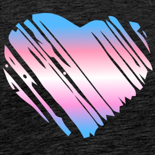 trans heart - Men's Premium T-Shirt