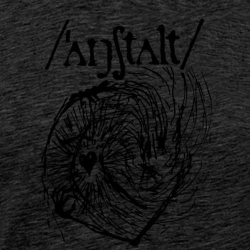 logo mit wesen (schwarz) - Männer Premium T-Shirt