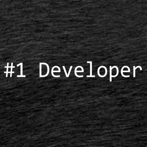 #1 Developer - White - Men's Premium T-Shirt