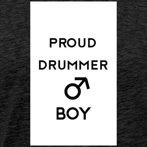 Proud drummer boy white - Herre premium T-shirt