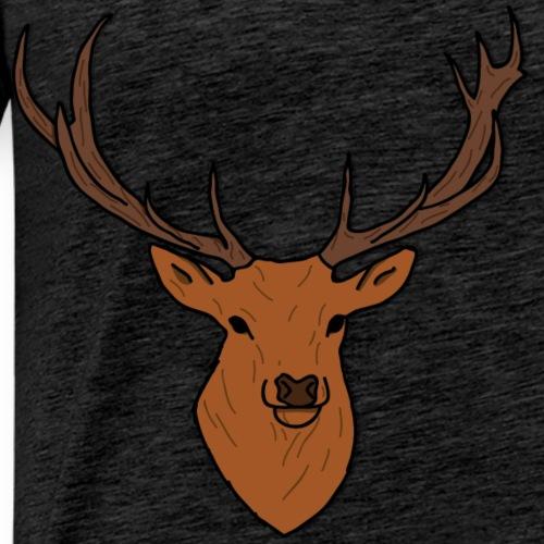 Cerf Break Wood - T-shirt Premium Homme