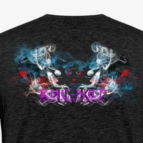 KHC NET ink (smoke) - Premium T-skjorte for menn