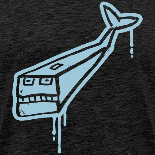 Angry Whale - Männer Premium T-Shirt