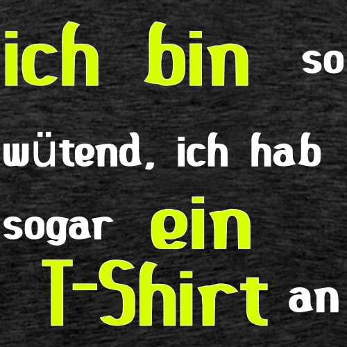 wütendes T-Shirt - Männer Premium T-Shirt
