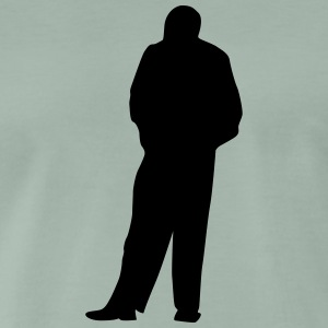 Man body Silhouette vector design - Men's Premium T-Shirt