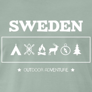 Sweden Outdoor Adventure Symbols - Men's Premium T-Shirt
