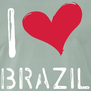 I Love Brazil - Premium T-skjorte for menn