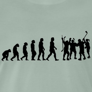 evolutie hockey - Mannen Premium T-shirt