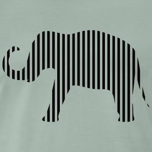 Elephant in strips - Men's Premium T-Shirt
