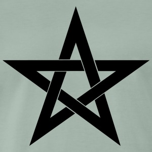 Pentagram, pentacle, magic, symbol, witchcraft - Men's Premium T-Shirt
