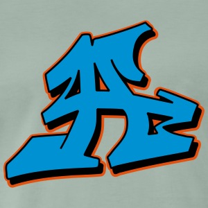 Graffiti Blockletter A - Premium-T-shirt herr