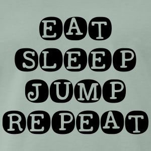 Eat Sleep Jump herhalen - Mannen Premium T-shirt
