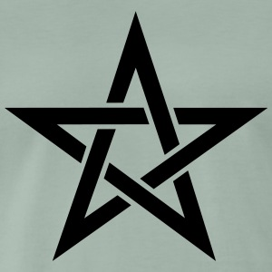 Pentagram, pentacle, magic, symbol, witchcraft, - Men's Premium T-Shirt