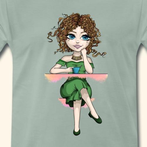 demoiselle à la robe verte 2 - T-shirt Premium Homme