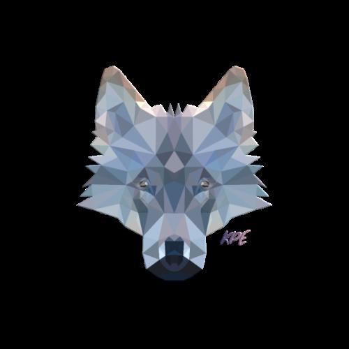 Wolf Kopf im coolen 3D Poly-Style - Männer Premium T-Shirt