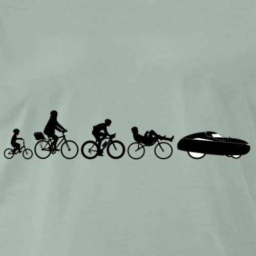 Bicycle evolution black - Miesten premium t-paita
