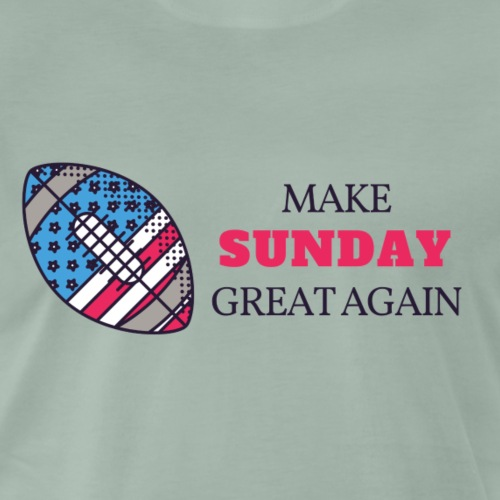 Make Sunday Great Again - ROT - Männer Premium T-Shirt