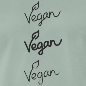 vegan - Premium T-skjorte for menn