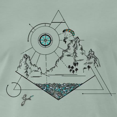 RAFALE conception géométrique - Les éléments - Dark - T-shirt Premium Homme