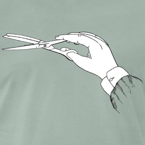 Friseur Schere - Männer Premium T-Shirt