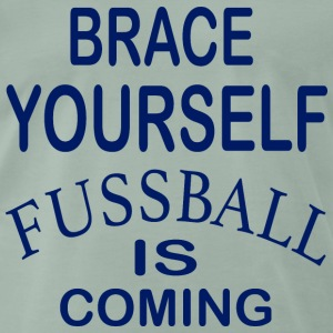 Zet je schrap Football Is Coming - Blue - Mannen Premium T-shirt