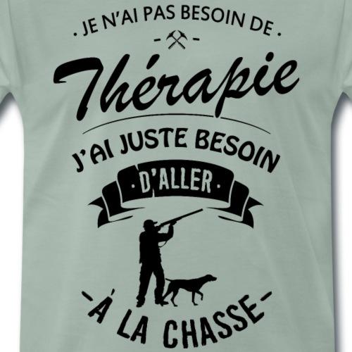 T-shirt Chasseur Thérapie - Aller à la Chasse - T-shirt Premium Homme