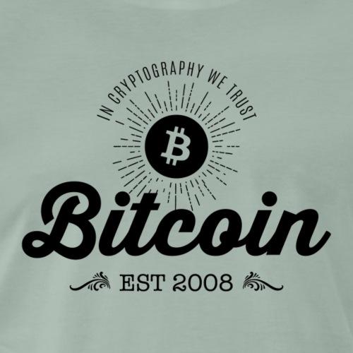 Bitcoin vintage design 01 - Herre premium T-shirt