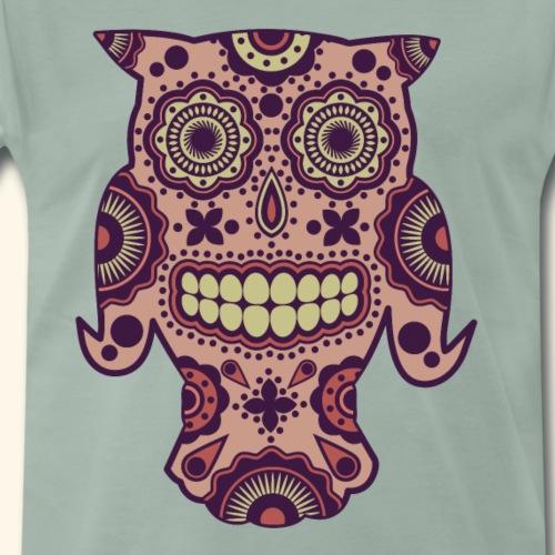 Eule Sugar Skull - Männer Premium T-Shirt