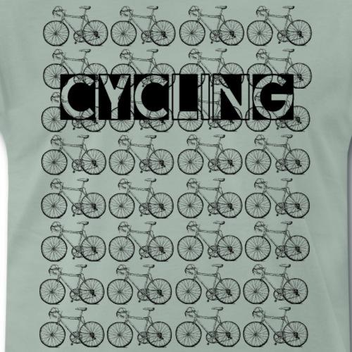 Cycling Rennrad Retro horizontal - Männer Premium T-Shirt
