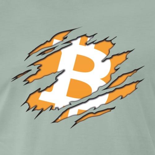 Bitcoin Claw - Herre premium T-shirt