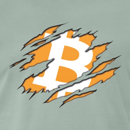 Bitcoin Claw - Miesten premium t-paita