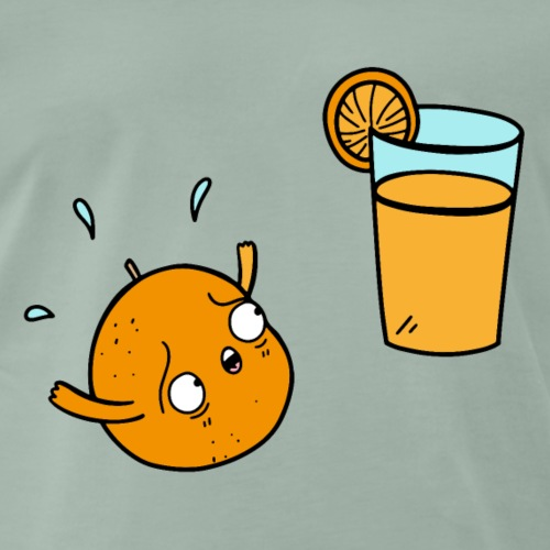 Orange Orangensaft Humor lustige Illustration - Männer Premium T-Shirt