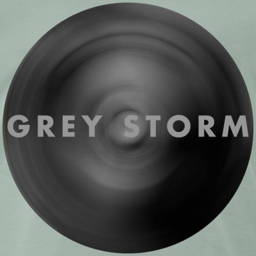 Gray Storm in Gaussian Blur - Men's Premium T-Shirt
