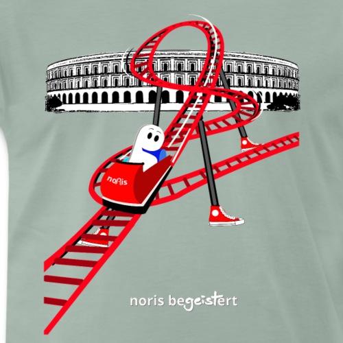 Noris fährt begeistert Achterbahn - Männer Premium T-Shirt