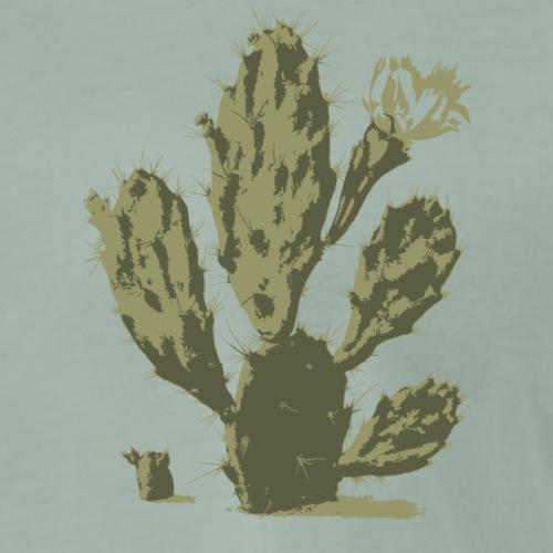 Pear Cactus in Bloom - T-shirt Premium Homme