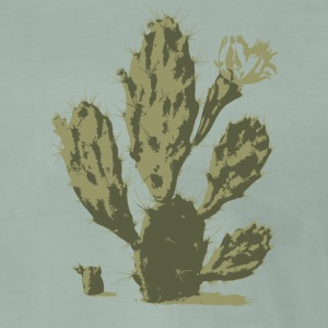 Pear Cactus in Bloom - Men's Premium T-Shirt