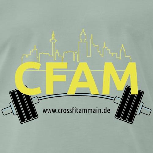 CFAM Skyline & Barbell T Shirt - Männer Premium T-Shirt
