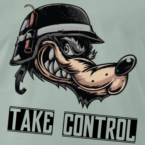 Take Control - Angry Wolf - T-shirt Premium Homme