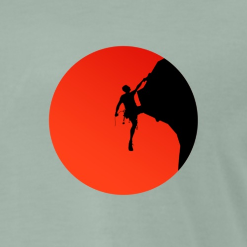 Climber sunset - Men's Premium T-Shirt