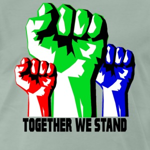 Sammen We Stand United! revolutionen - Herre premium T-shirt