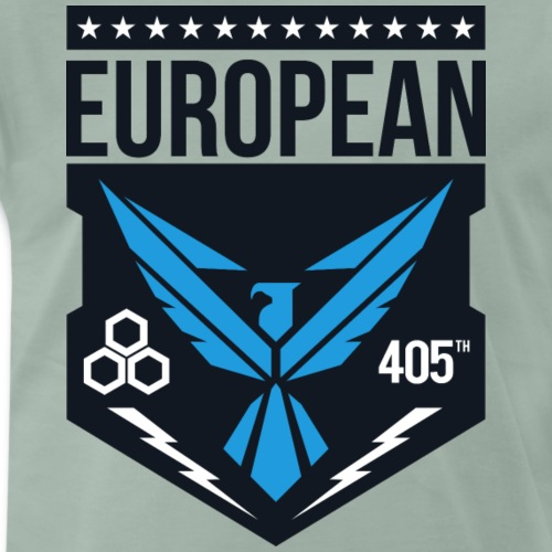 european 405th logo - Mannen Premium T-shirt