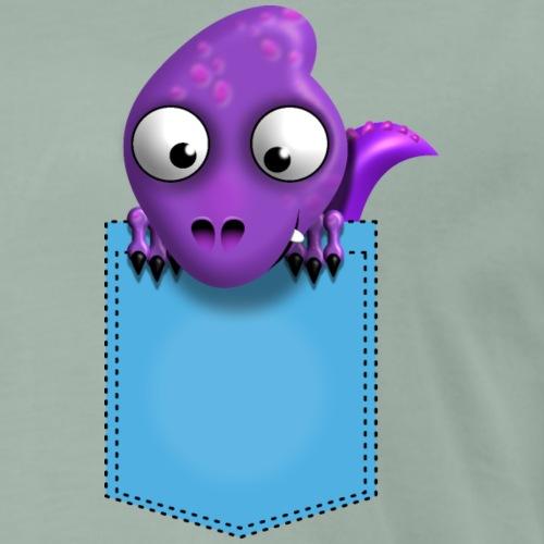 Dino Pocket, Geschenkidee für Kinder - Männer Premium T-Shirt